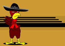 Mexican chicken mariachi background4 royalty free illustration