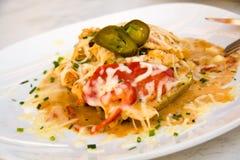 Mexican Chicken with potato,cheese Stock Photos