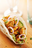 Mexican chicken taco with avocado Royalty Free Stock Photos
