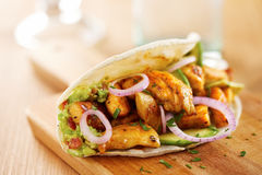 Mexican chicken taco with avocado Stock Images