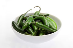 Mexican chiles serranos Stock Image