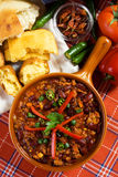 Mexican chili. Delicious mexican chili with kidney bean and ground beef Royalty Free Stock Photos