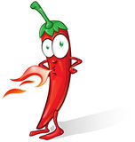 Mexican chili cartoon. Isolated on white background Stock Photos