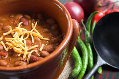 Mexican chili with cheese Royalty Free Stock Photo