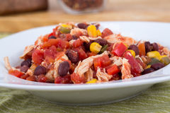 Mexican chili chicken stew Stock Image