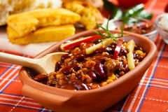Mexican chili con carne Royalty Free Stock Images