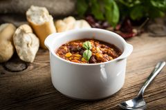 Mexican chili con carne. Royalty Free Stock Photography