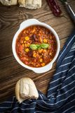 Mexican chili con carne. Royalty Free Stock Images