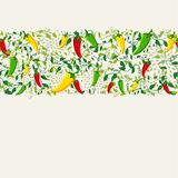 Mexican chili pepper pattern design Stock Photography