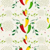 Mexican chili pepper pattern illustration Stock Photo