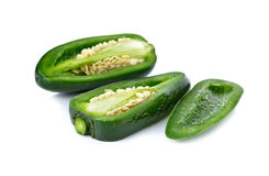 Mexican chili peppers or Jalapenos Chili Peppers on white Stock Photography