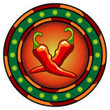 Mexican chili peppers logo Royalty Free Stock Images