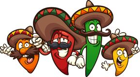 Free Mexican Chili Peppers Of Different Colors And Sizes Stock Photography - 176855212