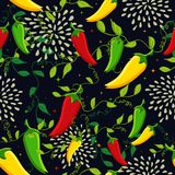 Mexican chili seamless pattern Royalty Free Stock Image