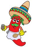 Mexican chilli chef Royalty Free Stock Image
