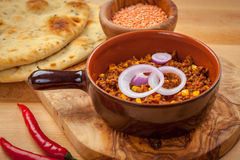 Mexican chilli con Carne with red lentils Royalty Free Stock Image