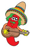 Mexican chilli guitar player Stock Photo