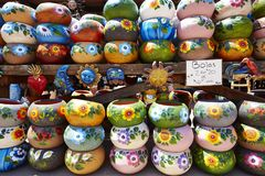 Mexican china and handcraft. Mexican hand made china and handcraft in good quality and different colors and patterns royalty free stock images