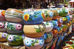Mexican china and handcraft. Mexican hand made china and handcraft in good quality and different colors and patterns stock photo
