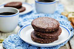 Mexican chocolate Pepita shortbread cookies Royalty Free Stock Image