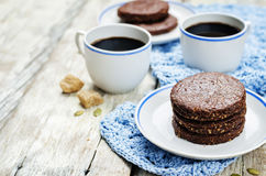 Mexican chocolate Pepita shortbread cookies Stock Image