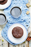Mexican chocolate Pepita shortbread cookies Royalty Free Stock Photography