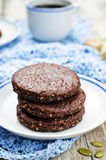 Mexican chocolate Pepita shortbread cookies Royalty Free Stock Photo
