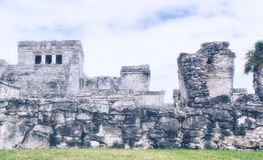 Mexican city of Tulum - Mayan Ruins.  Stock Photo