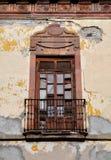 Mexican classic colonial style balcony. In Guanajuato Mexico Stock Image