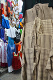 Mexican clothes for sale in a market.  Stock Photos