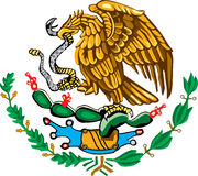 Mexican coat of arms color Stock Photos