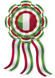 Mexican cockade with red green and white stripes Stock Photos