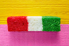 Mexican coconut flag candy striped chredded stock photography