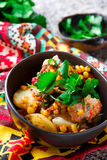 Mexican cod and potato stew. Royalty Free Stock Photo