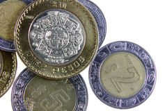 Mexican Coins Royalty Free Stock Photo