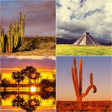 Mexican collage Stock Image