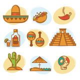 Mexican collection Royalty Free Stock Images