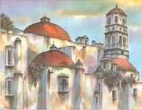 Mexican Colonial Convent Stock Images