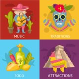 Mexican Colored Compositions Royalty Free Stock Images