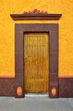 Mexican colorful colonial style door Royalty Free Stock Photos
