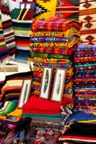 Mexican colorful market. Typical colors of mexican handicraft market in Chiapas Stock Photo