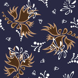 Mexican colorful and ornate ethnic seamless pattern. Birds and flowers on the light background Royalty Free Stock Images