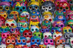Mexican colorful skulls Stock Photography