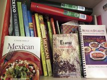 Mexican Cookbooks Collection Stock Images