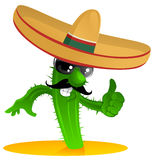 Mexican cool cactus stock illustration