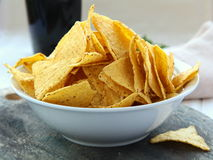 Mexican corn chips Royalty Free Stock Photo