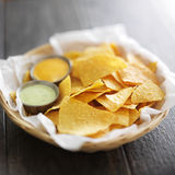 Mexican corn tortilla chips Royalty Free Stock Images