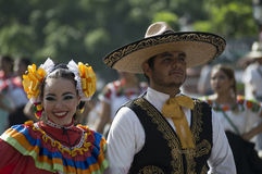 Mexican Couple in Colorful Costume Stock Photography