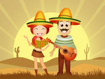 Mexican couple Stock Image