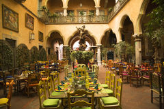 Mexican Courtyard Restaurant Queretaro Mexico royalty free stock image